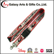 Satin Ribbon Lanyard with Safety Buckle/Woven Logo