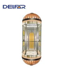 Elevador de observación con paredes de vidrio del elevador Delfar