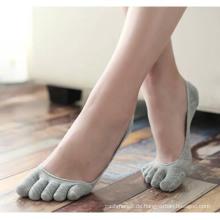 Männer Frauen Baumwolle fünf Zehe Knöchel unsichtbare Socken (FA021)