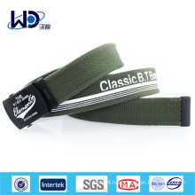 Men Military Print Canvas Webbed Belt