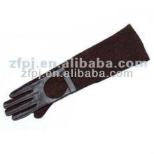 Guantes de ante largos brazos de color marrón