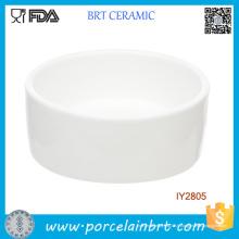 Plat en céramique blanc fait sur commande pour le petit animal familier d'animal familier