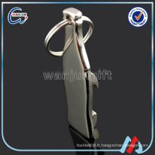 Porte-clés d'ouvre-bouteille en forme de bouteille de conception personnalisée