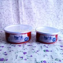 Fácil de limpiar y de salud 5 piezas de bol de hielo de esmalte rojo