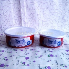 Fácil limpeza e saúde 5 pcs tigela de gelo esmalte vermelho