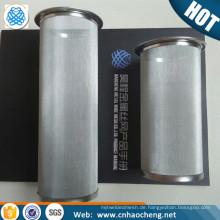 100 150 Micron Edelstahl zylindrischen Drahtgeflecht Kaffeefilter Sieb
