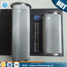 100 filtro de filtro de café de malla de alambre cilíndrico de acero inoxidable de 150 micrones