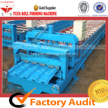 Glazed Tile Forming Machine Making Metal Step Roofing
