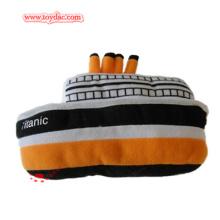 Plush Cartoon Boat Ship Toy