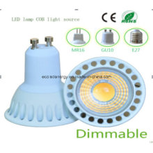 Dimmable Ce and Rhos GU10 5W COB LED Bulb