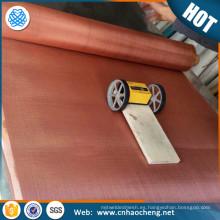 Tela de cobre de la malla de alambre de la gasa de cobre que arropa la ropa para el blindaje del rfi