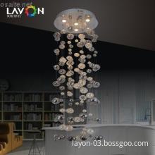 4 lights gu10 glass pendant lamp modern design for sale