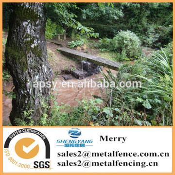 0.5mX0.5mX0.5m Galfan Gabion basket welded Gabion bridge support