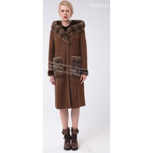 Sepanyol Merino Shearling Hooded Luxury Coat