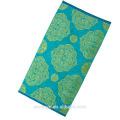 textil suave verde y rosa oscuro jacquard patrón adultos Beach Towel BT-141