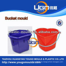 Diseño de moda de almacenamiento cubo de molde de fábrica / inyección de plástico molde de cubo de agua