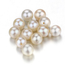 Snh 2016 Real Freshwater Pearls, Round White Pearl Loose Beads