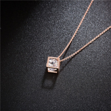 Birthstones ile Rose Gold Mom Kafes Kolye Kolye