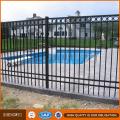 3 Schienen oder 2 Schienen verwendet Schmiedeeisen Zaun zum Verkauf mit dekorativen schönen Kreisen