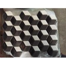Imitation Leather Tile Ceramic Mosaic Tile Matte Rhombus Mosaic