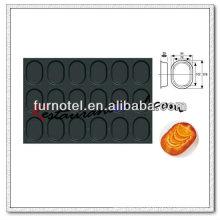 V045 antiadherente 18 tazas molde oval pastel