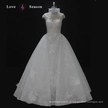 WX16125 mangas boné vestido de noiva elegante feito sob medida acessível vestido de casamento nupcial milly