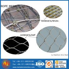 Stainless Steel Rope Mesh Net / Ferruled Mesh / Cable Mesh Net