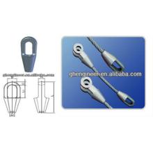 Abra el casquillo de la cuerda de alambre de acero / el enchufe cerrado de la cuerda de alambre de acero