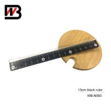Black Stationery Plastic Ruler 15cm