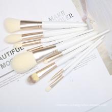 9шт белый набор кисточек для макияжа Costomize Logo