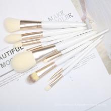 9pcs white makeup brush Set Costomize Logo