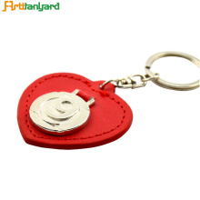 Kundengebundene Schlüsselkette mit PU-Leder