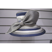 Multi Color Satin Ribbon Women's Formal Church Hats