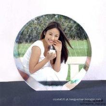 Presentes de aniversário de cristal de vidro original do quadro da foto (KS01028)
