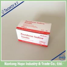 Almofada de preparação de iodopovidona descartável médica