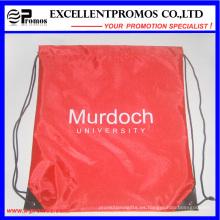 Promocional personalizado mochila de nylon material de poliéster con cordón (EP-B6192)