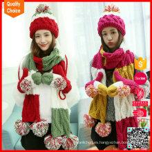La nueva venta al por mayor del diseño personalizó la bufanda del gorro del guante