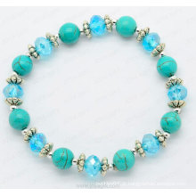 Charm Bracelet Fashion Jóias Pulseira de cristal turquesa