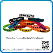 Professional Production Printing Logo Silicone Wristband for Christmas Party