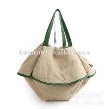 Saco de compras de lona / fábrica saco de lona de moda para as mulheres na China