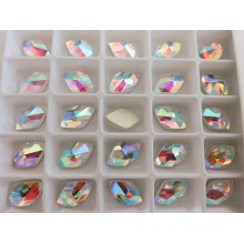 Diamond Shape Crystal AB Flat Back Stones Beads
