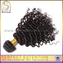 Atacado Kinky Curly Aceite Paypal Cabelo Virgem Mongolian