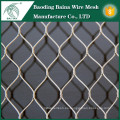 Malla de alambre de acero inoxidable de técnica tejida popular