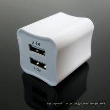 Carregador duplo 5V 2.1A 5V1.0A da parede de USB do carregador da parede de USB do curso