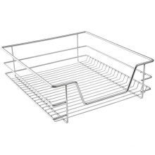 Metal Pull Out Basket Telescopic Storage Wire Drawer
