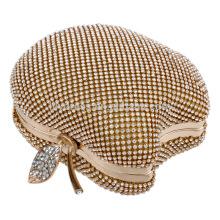 Apfel-Form-Frauen-Abend-Abendessen-Handtasche Braut-Beutel für Hochzeits-Abend-Partei-Brauthandtaschen B00144 Diamant-Kupplungsgeldbeutel