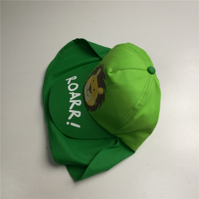 Kids Animal Print Flap Cap