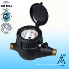 Multi Jet Plastic Cold Water Meter with Brass Thread