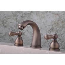 """Q30223A Antike drei Hebel heiß und kalt 8 """"Becken Wasserhahn"""