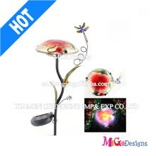 Cogumelo Metal e Vidro Luz Solar Jardim Decoartion Light